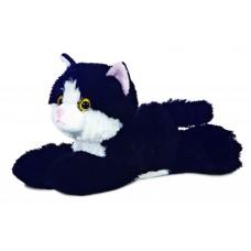 Mini Flopsie - Maynard Black & White Cat 8In