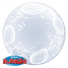 24 inch DECO BUBBLE BLNS AND STARS