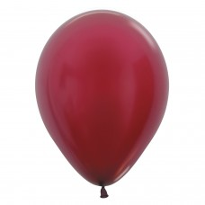 BALL:12in Met Burgundy 50pk