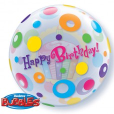 22 inch SINGLE BUBBLE BDY CUPCAKE & DOTS