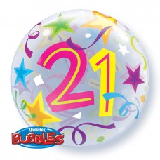 22 inch SINGLE BUBBLE 21 BR STARS