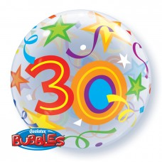 22 inch SINGLE BUBBLE 30 BR STARS