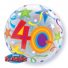 22 inch SINGLE BUBBLE 40 BR STARS