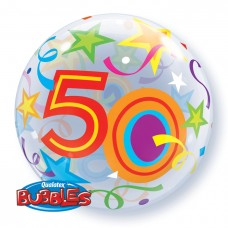 22 inch SINGLE BUBBLE 50 BR STARS