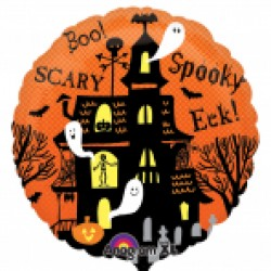 Spooky Haunted House 18 inch Foil Balloon