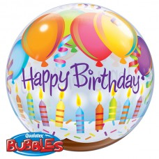 22 inch SINGLE BUBBLE BDY BLNS & CANDLES