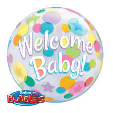22 inchSINGLE BUBBLE WELCOME BABY