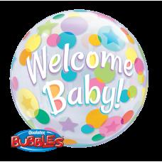 22 inchSINGLE BUBBLE WELCOME BABY
