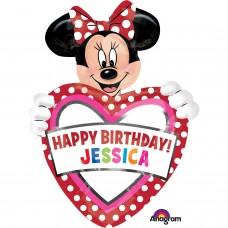S/SHAPE:Minnie  Birthday Personalise