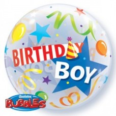 Birthday Boy Party Hat 222 Single Bubble