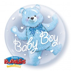 24 inch DOUBLE BUBBLE BABY BLUE BEAR
