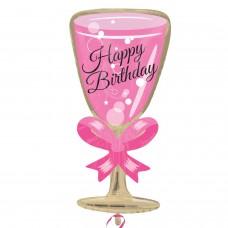 JrShape:Happy Birthday Glass