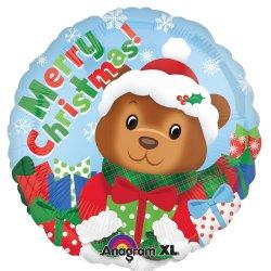 18 Inch Christmas Bear Foil Balloon