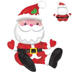 Multi Balloon Sitting Santa