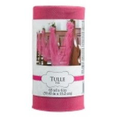 TULLE SPOOL BRIGHT PINK