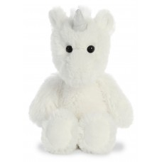 Cuddly Friends Unicorn White 8In