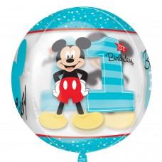 Orbz:Mickey 1st Birthday clear