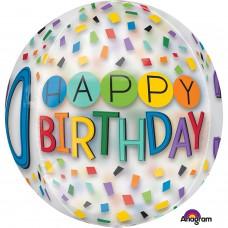 Orbz:Happy 30th Birthday Rainbow Clear