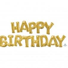 Phrase: HAPPY BIRTHDAY Gold