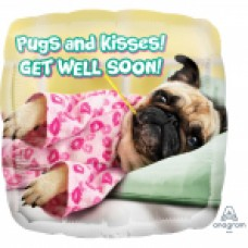 SD-SQ:Avanti Get Well Pugs & Kisses
