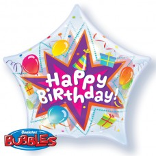 22 INCH STAR SINGLE BUBBLE BDY PARTY BLAST
