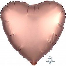 SD-H:Satin  Rose Copper Heart