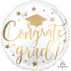 SD-C:Congrats Grad White&Gold