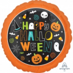 Happy Halloween 18 inch foil balloon
