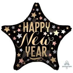 New Year Foil Balloon Satin Luxe