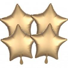 SD-S:SL™ 4 Pk Gold Sateen Stars