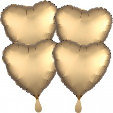 SD-H:SL™ 4 Pk Gold Sateen Hearts