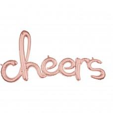 Phrase:Script Cheers Rose Gold