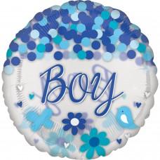 Jumbo:Confetti Balloon BabyBoy