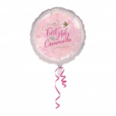 First Holy Communion Pink 18 Inch Foil Balloon
