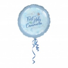 First Holy Communion Blue 18 Inch Foil Balloon
