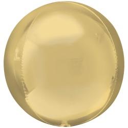 White Gold Orbz Unpackaged Foil Balloons