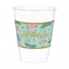 PLASTIC CUPS 473ML MINT TO BE