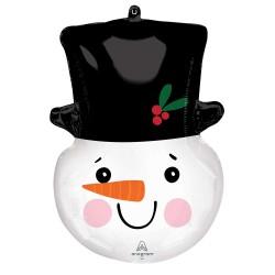 Snowman Head S/Shape Foil Balloon
