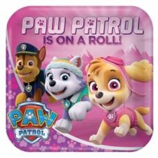PLATETS 9 INCH SQ PAW PATROL GIRL