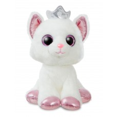 Sparkle Tales Duchess White Cat with Crown 7In