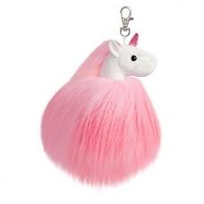 Sparkle Tales Fluffy Unicorn Keyclip Pink