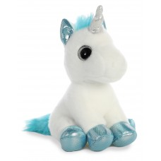 Sparkle Tales Snowbelle Unicorn 7In White & Blue