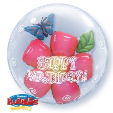 24 INCH DOUBLE BUBBLE BDAY FLOWER