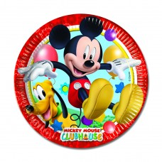 Mickey Mouse Paper Party Plates. These large plates are 23cm