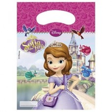 Sofia the First Party Bags. Each pack contains 6 bags.