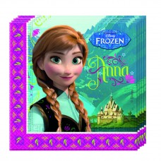 Disney Frozen 2 Ply Paper Napkins. Pack contains 20 napkins.