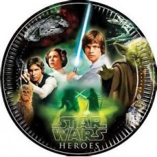 Star Wars & Heroes Heroes Paper Party Plates. These large pl