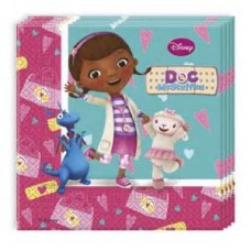 Doc McStuffins 2 Ply Paper Napkins. Pack contains 20 napkins