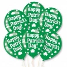BALLOON pk6 27.5cm:Happy St Patrick's