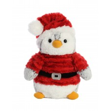 PomPom Penguin Santa 9In